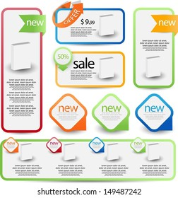 web element set for sale and advertisement