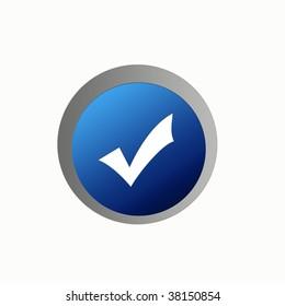 Web icon check illustration high resolution digital.
