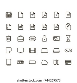 Web icons set for internet and applications.