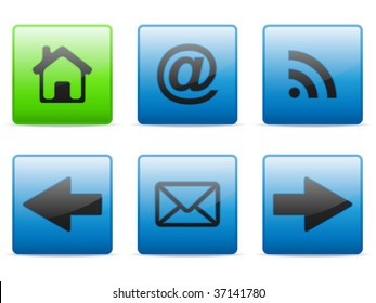 Web and internet buttons set