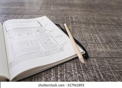 Web layout sketch paper