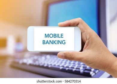 WEB SEARCH CONCEPT : MOBILE BANKING