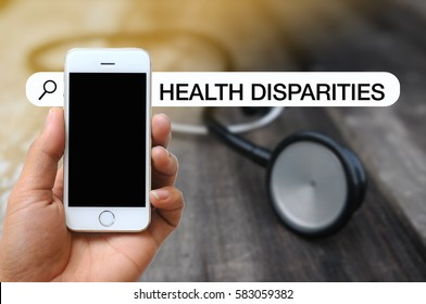 WEB SEARCH OF MEDICAL AND HEALTH CARE CONCEPT : HEALTH DISPARITIES