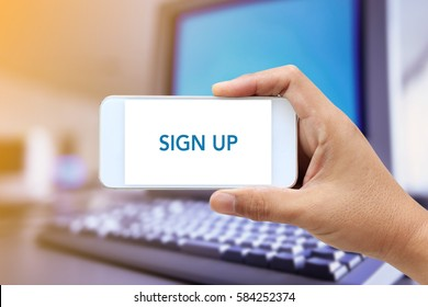 WEB SEARCH: SIGN UP CONCEPT