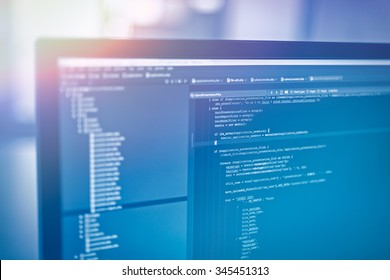 web site codes on computer monitor