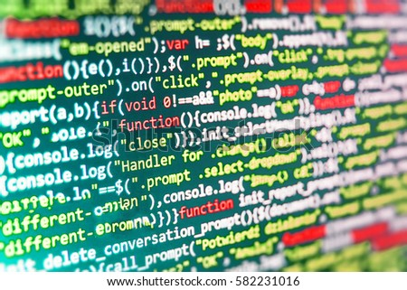 Web Site Codes On Computer Monitor Stock Photo (Edit Now