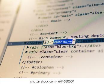 Web Site Source Code, Wannacry Virus