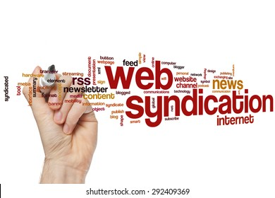 Web syndication word cloud concept