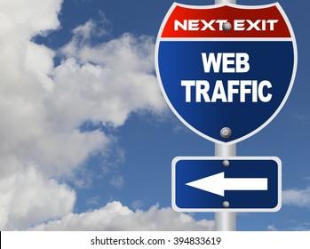 Web traffic road sign