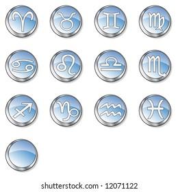 Web zodiac icon set