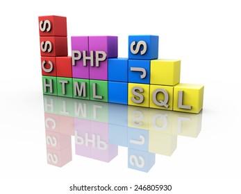 Webdesign and Webprogramming Elements Tetris Concept
