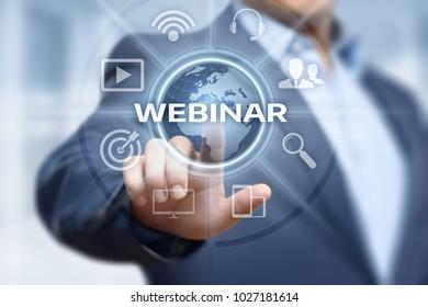 Webinar E-learning Training Business Internet Technology Concept.