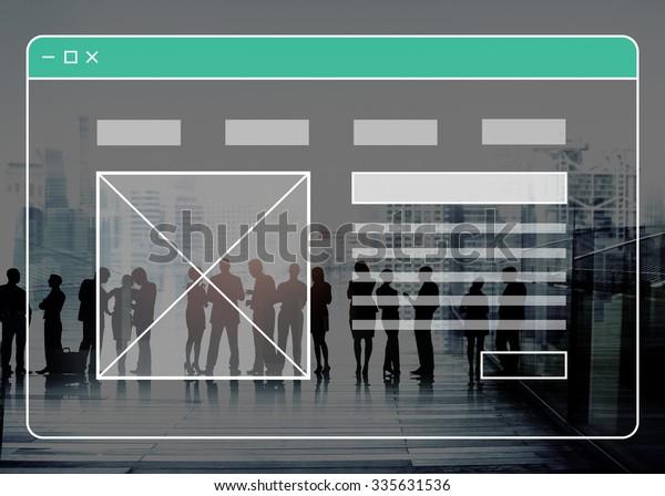 Webpage Technology Website Online Software Concept