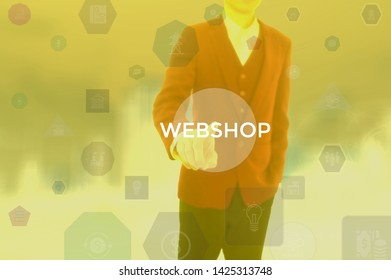 WEBSHOP - technology and business concept