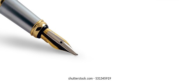 Website banner of an isolated old fountain pen