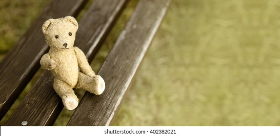 Website banner of a toy bear as giving his paw