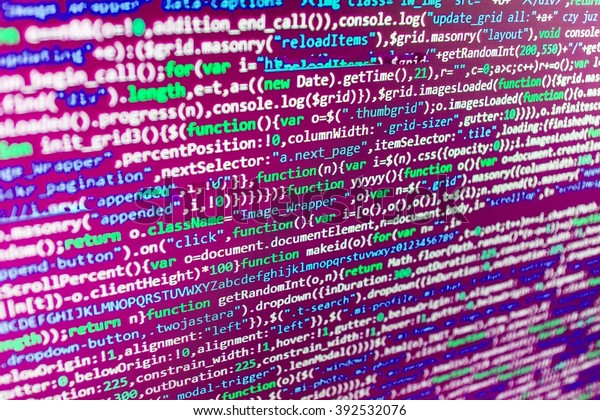 Website Codes On Computer Monitor Programmer Stock Photo
