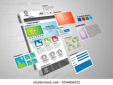 Website design and development project conceptual image.