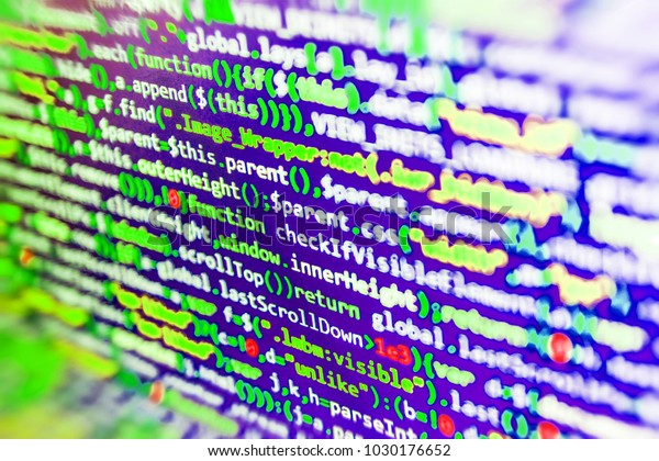 Website Design Javascript Code Text Editor Stock Photo (Edit Now