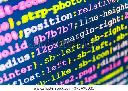 Website Development Website Programming Code Programmer Stock Photo