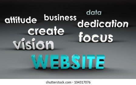 Website at the Forefront in 3d Presentation