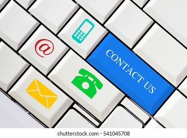 Website and internet contact us concept, customer service