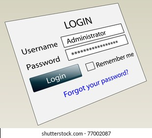 Website secure login with ID and password