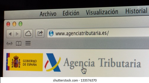 Website of the Spanish Tax Agency