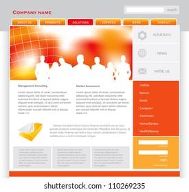 Website template concept.