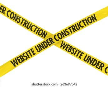WEBSITE UNDER CONSTRUCTION Barrier Tape