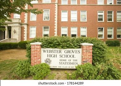 Webster Groves High School, Home of the Statesmen, Webster Groves, Missouri