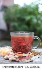 Wedang Uwuh, traditional herb drink from Jogjakarta, Indonesia.