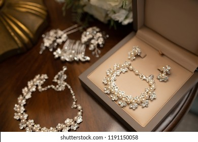 Wedding accessories. jewelry for the bride