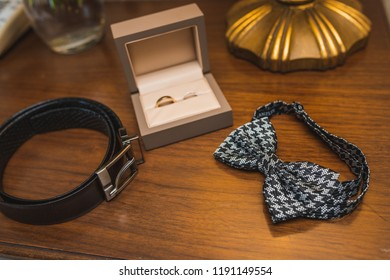 Wedding accessories. tie for the groom's shirt