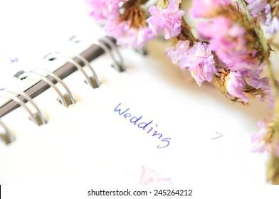 wedding agenda on time planner