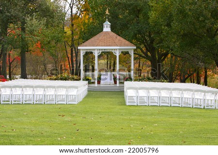 Wedding Alter Ready Autumn Ceremony Stock Photo Edit Now 22005796