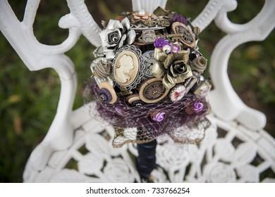 Wedding alternative bouquet detail