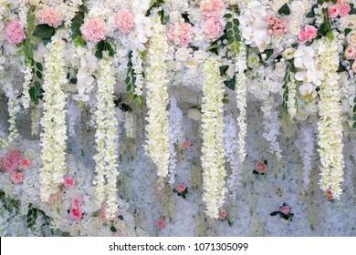 Wedding arch and wedding decor background.