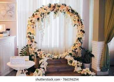 wedding arch at the restaurant