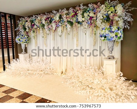 Wedding Backdrop Wedding Ceremony Stock Photo Edit Now