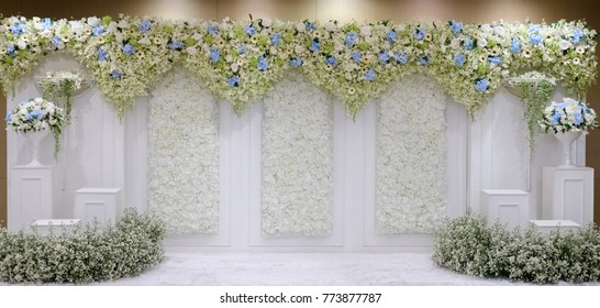 Stage decoration images stock photos vectors shutterstock wedding backdrop flower junglespirit Images