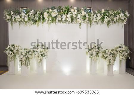 Wedding Backdrop Flower Wedding Decoration Stockfoto Jetzt