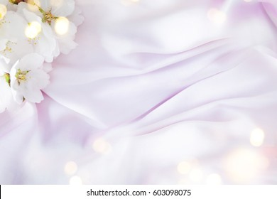 Wedding background with almond flowers
