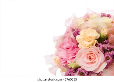 wedding background decoration with beautiful bouquet