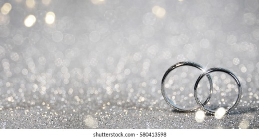 Wedding background with rings