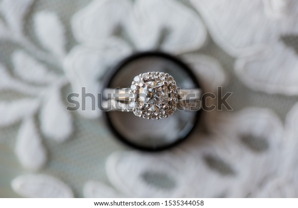 Wedding Band Engagement Ring Closeup On Stock Photo Edit Now