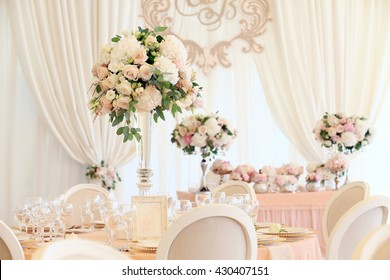 Wedding banquet decoration in tender color