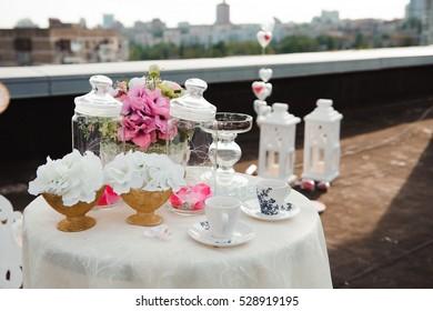 wedding banquet in a restaurant - wedding decorations