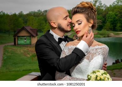 wedding of a beautiful young couple