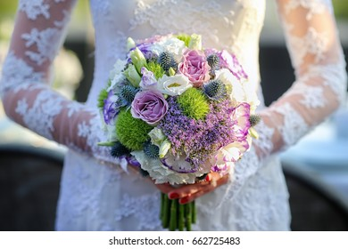 Wedding bouqet in bride's hands